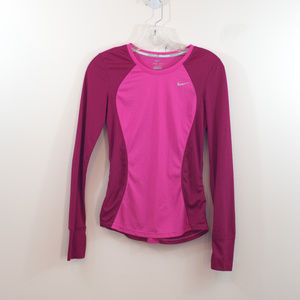 Nike Run Drifit  Pink Long Sleeve EUC